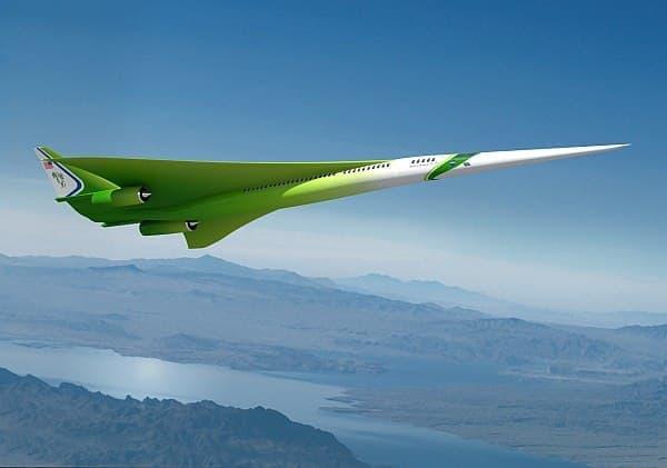 ロッキード・マーティンによる新世代超音速旅客機予想図  (出典:NASA/ロッキード・マーティン)
